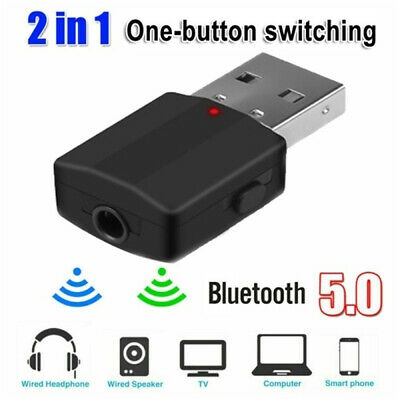 One-click Switching Bluetooth 5.0 Transmitter Receiver 2in1 Stereo Audio Adapter
