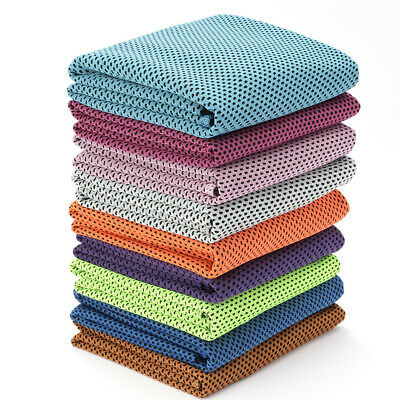 Instant Cooling Towel Sports Gym Drying Sweat Microfibre Absorb Dry & Case GF
