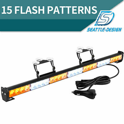 "31"" 28W Emergency Warning Flash Strobe LEDLight Bar Traffic Advisor Light 12-24V"