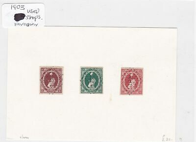 paraquay 1903 used stamps  Ref 8911