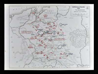 West Point WWII Map Poland Campaign German Invasion Exploitation  Sept 6-14 1939