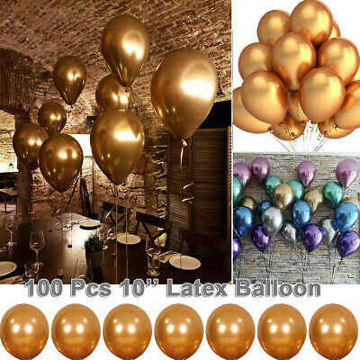 100 X Latex Plain Baloon Bunting Banner Ballons Quality Party Birthday Wedding
