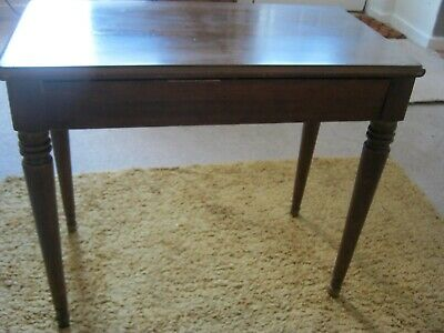 Piano Stool in good solid condition  vintage with storage box Dark Wood BARGAIN