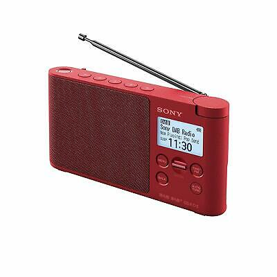 Sony XDR-S41D Portable DAB/DAB+ Wireless Radio with LCD Display - Red