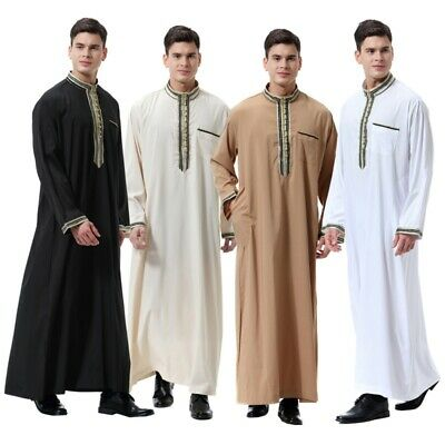 HOT Thobe jubba Dishdasha Thawb Muslim Islamic Abaya Daffah Kaftan Robe Dress AU