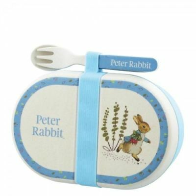 Peter Rabbit Nursery Baby Organic Snack Box & Cutlery Gift Set A28743