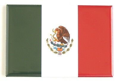 Flag of Mexico FRIDGE MAGNET (2 x 3 inches) mexican flag