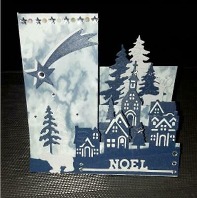 Christmas village dies house Scrapbooking Dies Metal Craft Die Cut Embossing DIY