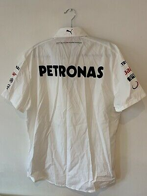SHIRT Mercedes AMG Petronas Hamilton Men Teamshirt Formula One 1 F1 New WHT