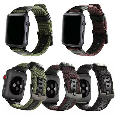 Nylon Woven Sport Band Strap For Apple Watch iWatch Series 4/2/38/42mm Canvas
