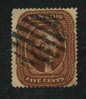 CKStamps: US Stamps Collection Scott#30 5c Jefferson Used Thin