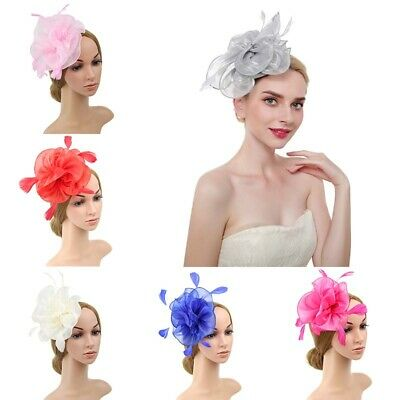 Headband Race Band Royal Fascinator Ladies Feather Wedding Ascot Flower Alice