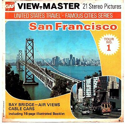 3 VIEW-MASTER 3D Reels📽️SAN FRANCISCO, A 166, B-Version, Tour 1, California,RAR