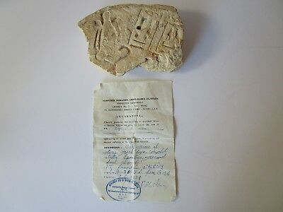 Antique Egyptian Artifact Wall Carving Sculpture Relic 1400 B.c Iconic Museum