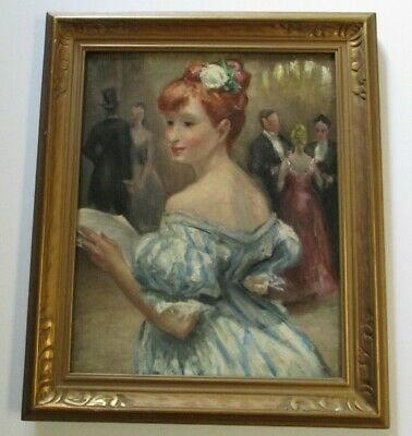 Antique Exhibited Esther Williams Painting Portrait Party Deco  Virginia Museum