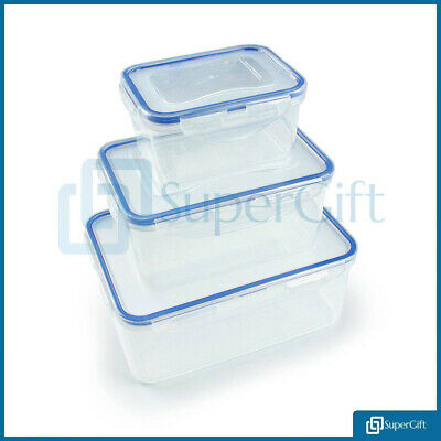 3X Lock & Lock Plastic Containers Storage Air Tight Box- FOOD, PASTA, LUNCH BOX