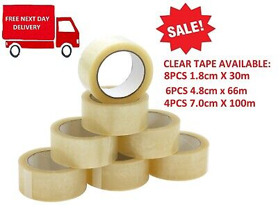 PACKING TAPE STRONG LONG LENGTH PARCEL BROWN CLEAR / FRAGILE 48mm x 66M