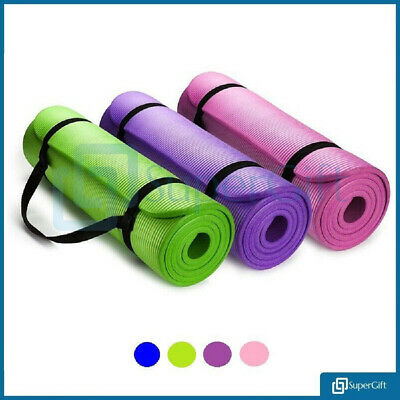Yoga Mat Fitness Training 8, 10, 15mm Gymnastics Sport Turn Mate Camping Relax