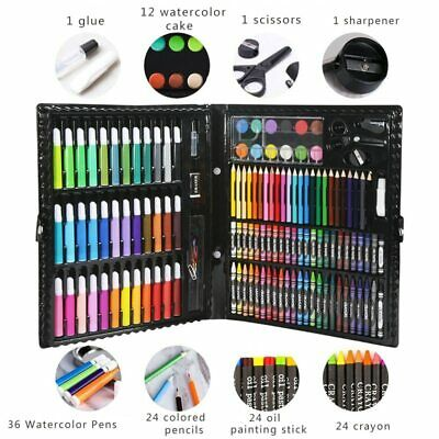 Kids Colouring Drawing Set 50-208PCS Artists Art Case Pencils Painting Childrens