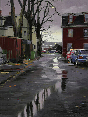 Original Oil Painting by Mark Grantham, The Other Day, June St, Halifax, 24x18