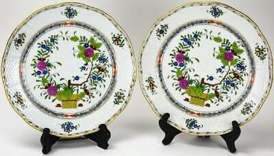 Fine & Rare by Herend Two Large Hand Painted Porcelain Plates No Reserve Price!