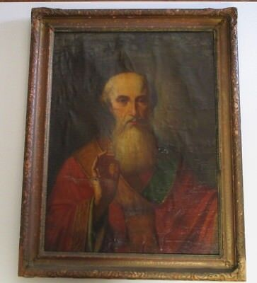 Antique Old Master Painting Museum Quality 17Th Century Religious Icon Portrait