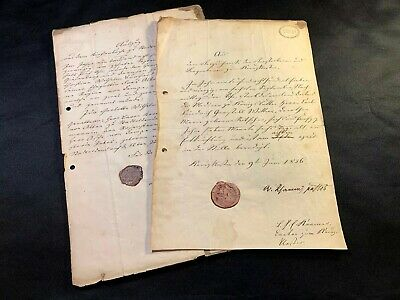 Lot Of Two Stamped German Documents 1848, 1856