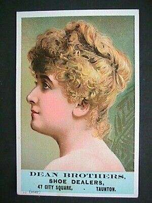 Vtcd191 Dean Brothers Shoe Dealers Victorian Trade Card Collectible Advertising