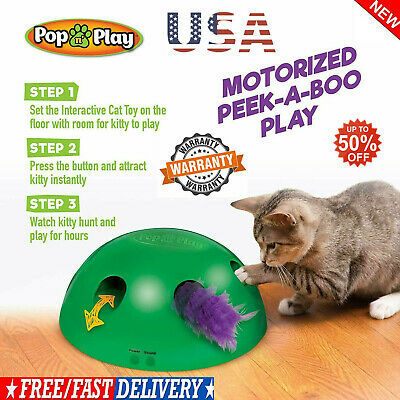Pop N' Play Interactive Motion Cat Toy Mouse Tease Electronic Pet Toys USA BEST
