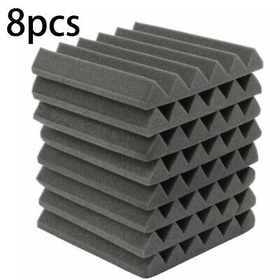 8pcs Acoustic Panels Tiles Studio Sound Proofing Insulation Closed Cell Foam UK