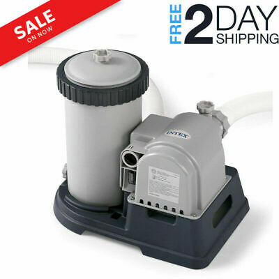 Intex Krystal Clear 2500 GPH Swimming Pool Filter Cartridge Pump With Timer New