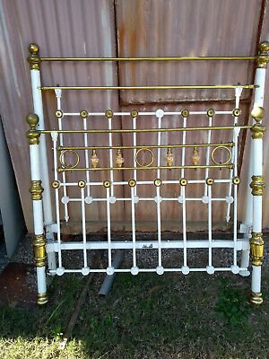 Original Antique Brass Double Bed Head  and Foot Ends