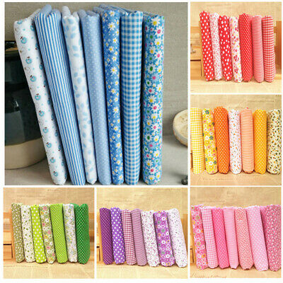 Series 7PCS/sET Assorted Pre-Cut Fat Quarters Bundle Charm Cotton Quilts Fabric