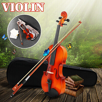 4/4 Full Size Beginners Students Retro Acoustic Violin With Bow Strings Case