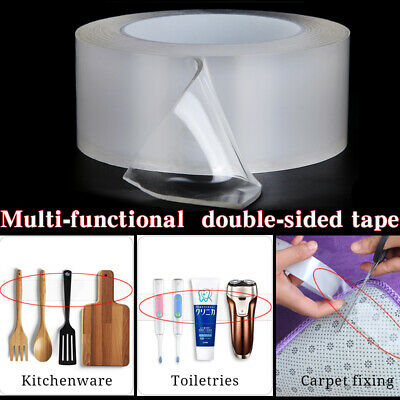 Gel Grip Tape Silicone Waterproof Double Sided Tape Reusable Non-slip Nano Tapes