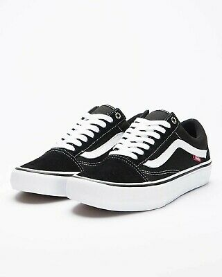 Vans Shoes Old Skool PRO Black White USA Size Skateboard Sneakers