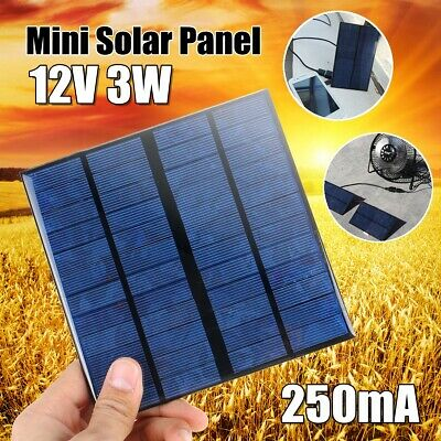 12V 3W Mini Power Solar Panel Small Module DIY For Battery Cell Phone Charger
