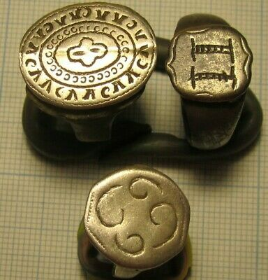 3 ancient rings of the 14-17 century. lot # K25