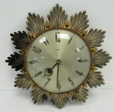 Vintage Metamec Sunburst Wall Clock 1960s SPARES AND REPAIRS - WEL D3