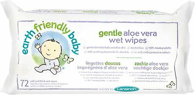 Lansinoh EARTH FRIENDLY GENTLE ALOE VERA WET WIPES Baby/Toddler Changing -BN