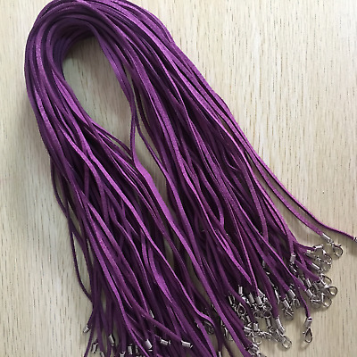 Wholesale 10pcs Purple Suede Leather String 20 inches (50cm) Necklace Cords