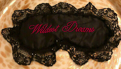 Wildest Dreams Sleep Mask, Satin Padded Eye Cover, Lace Edges, Sexy, NEW