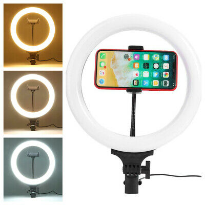 8 inch 120LED Ring Light Studio Photo Video Dimmable Lamp Camera Phone 5500K 24W