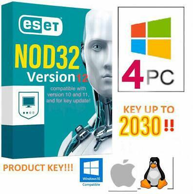 🔥 ESET NOD32 Antivirus 2019 • License Up to 2030 - 4 PC • Product Key 10 Years
