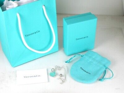 """Estate Sterling Silver Tiffany & Co Heart Pendant Ladies Necklace 4.2g 14.5""""L"""