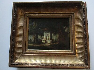 Barre Early 19Th Century Painting Antique Landscape Orientalist Small Gem Old