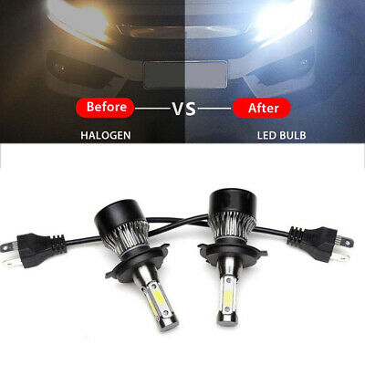 2019 4-Side H4 LED Headlight Car Bulbs 300W 36000LM High And Low Beam Bright New
