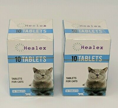 20 Healex Dewormer Tablets For Cats with Tapeworm & Roundworm