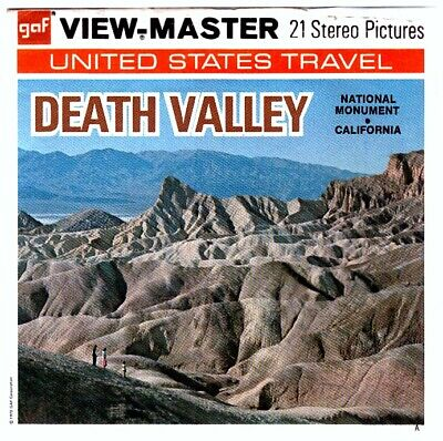 3 VIEW-MASTER 3D Reels📽️DEATH VALLEY NATIONAL MONUMENT,CALIFORNIA,A 203,USA,RAR