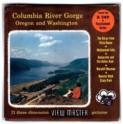 3 VIEW-MASTER 3D Reels📽️COLUMBIA RIVER GORGE,Oregon and Washington,A 249,Museum
